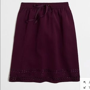J.Crew Laser Cut Drawstring Skirt-8